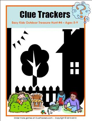 Free Kids Outdoor Birthday Treasure Hunt Printable Party Game Ages 5-9
