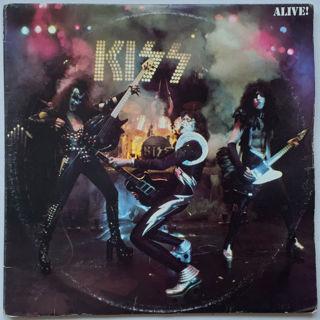 vintage 1976 kiss alive, 2 record album.exc cond.