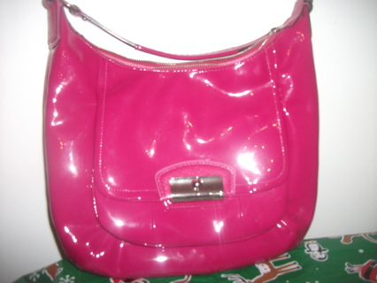 100 Authentic Coach Purse Hot Pink Like New 368 Value