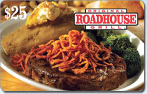 $25 Original Roadhouse Grill gift card