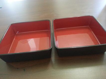 Pair square bowls