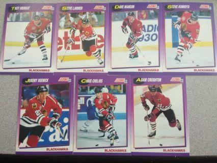 7 - 1991 Score Blackhawks American Hockey Cards