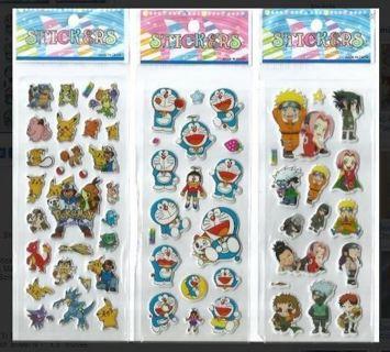 Anime Variety Pack NEW JAPANESE Manga Pop Up BUBBLE Stickers Vibrant Detailed CHIBI FREE SHIPPING