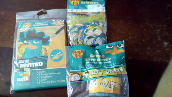 Phinneas n Ferb party items