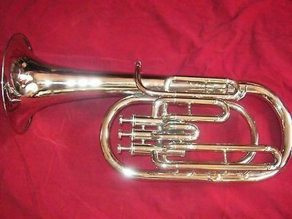 ALTO HORN PURE BRAS MADE Eb PITCH WITH FREE CASE BOX & MOUTHPIECE CHROME POLISH
