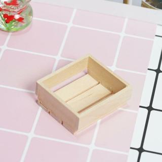 2PCs Dollhouse Miniature Toy 1:12 Kitchen A Wooden Basket Box