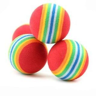 Foam Supplies Activity Play Colorful 6pcs Dog Pet Cat Cat Toys Rainbow Balls