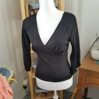 Beautiful sparkly large shirt with split sleeve decoration. FREE SHIPPING!!!