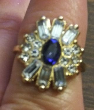 Beautiful Small Purple Stone. Size 5. Read Description.