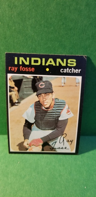 1971 - TOPPS EXMT - NRMT BASEBALL - CARD NO. 125 - RAY FOSSE - INDIANS