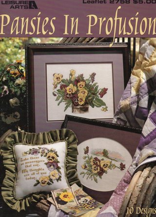 Cross Stitch Leaflet: (more than 2 pages): Pansies in Profusion