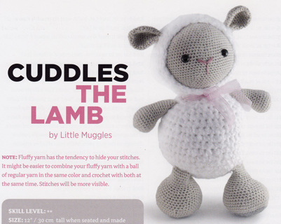 Free Cuddles The Lamb Toy Stuffed Animal Crochet Pattern