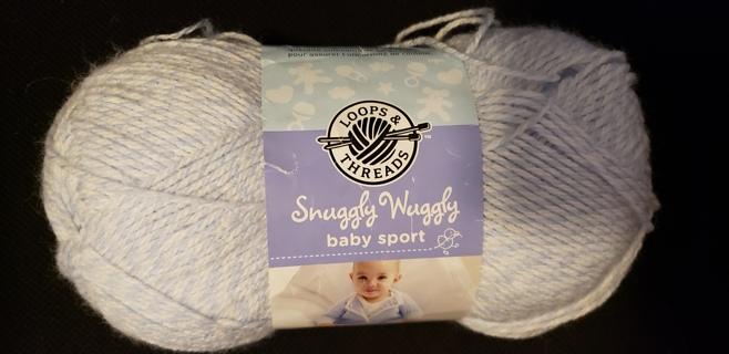 """Loops & Threads Snuggly Wuggly Baby Sport Yarn - """"Baby Denim Marl"""""""