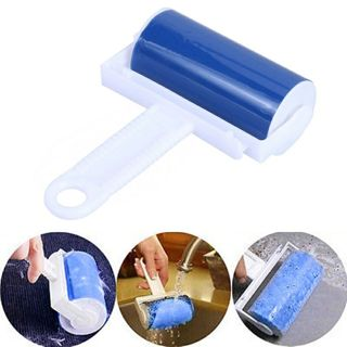 Washable Sticky Hair Cloth Lint Roller For Wool Dust Catcher Carpet Sheets Hair Sucking Sticky Lint