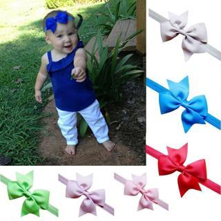 Newborn Bowknot Baby Headband Elastic Bow Baby Girl Hairband Headwear Girl Newborn Headbands Baby