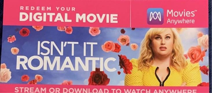 Isn't It Romantic digital code