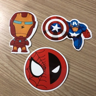 Cartoons Stickers Super Hero  Lot of 3 Stickers  marvel