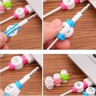 Cord Phone Figure Data Line Cartoon Protector USB Cable Cover 10Pcs/lot