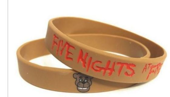 1 Five Nights at Freddy's Wrist Band Freddy Fazbear bracelet wristband Video Game JEWELRY GIN