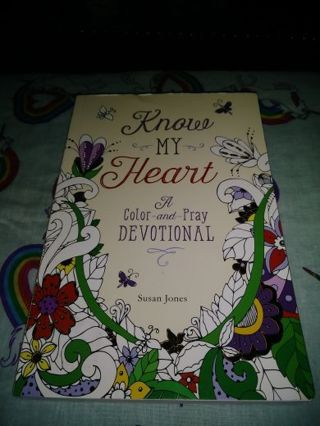 ⚛✨⚛✨⚛BRAND NEW KNOW MY HEART(A COLOR-AND-PRAY DEVOTIONAL⚛✨⚛✨⚛BY:SUSAN JONES+(GIN BONUSES!)