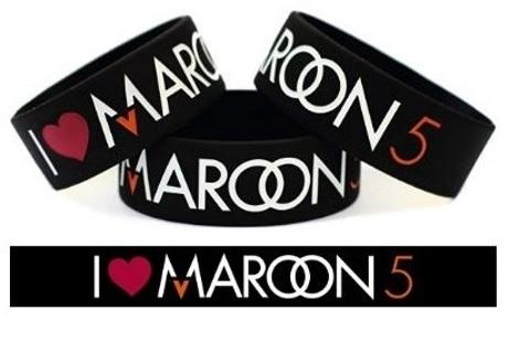 1 Maroon 5 Heart Wristband Bracelet Music Band Fan Jewelry