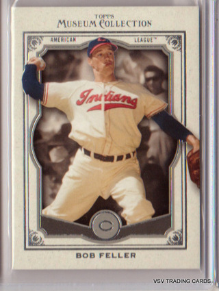 Bob Feller, 2013 Topps Museum Collection Card #90, Cleveland Indians