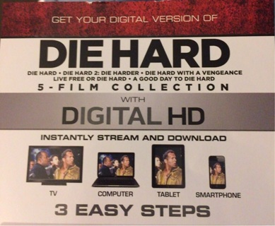 Die Hard 5-Film Collection Digital HD Fox From Bluray