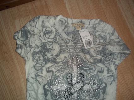 Girls / Womens Punk / Gothic shirt BNWT New Never worn Size small but long