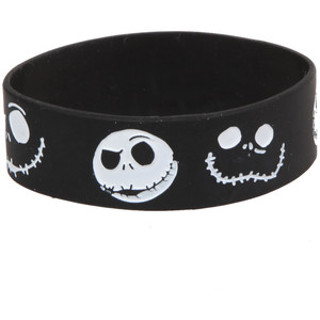 Jack Nightmare Before Christmas Wrist Band Bracelet Hot Topic Emo Goth Punk Gin