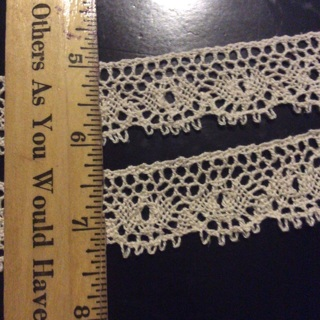 2 yards cream color lace