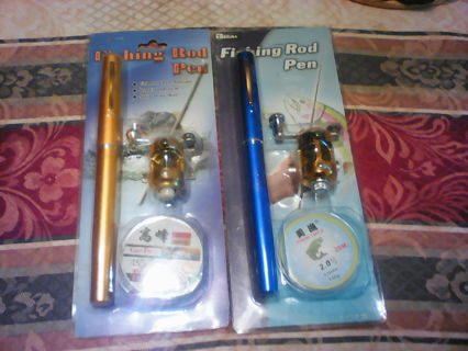 Pen fishing rod (2 with gin)