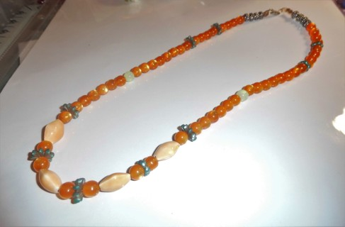 New - Glass Beaded Necklace