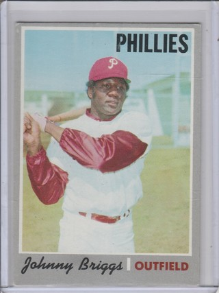 1970 TOPPS JOHNNY BRIGGS CARD