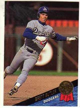 Free 1993 Leaf Brett Butler Los Angeles Dodgers Baseball