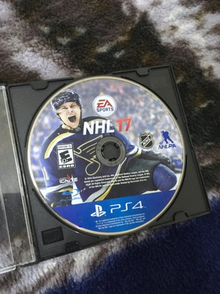 PS4 NHL 17 VIDEO GAME FOR PLAYSTATION 4 CONSOLE FREE SHIPPING