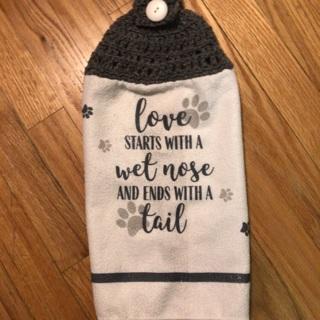 Hand Crochet Stove Towel.