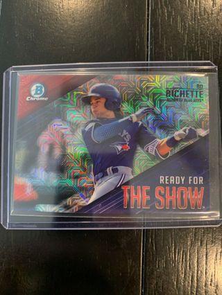 $$$bo bichette-#rfts-2-insert rookie card-rc-2019 bcp mega box refractor-mt-bluejays