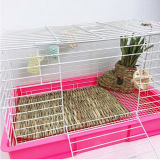 Animal Hamster Grass Chew Mat BreakersToy For Rabbit Guinea Pig House Pad