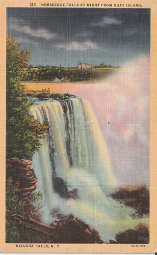 Vintage Used Postcard: 1945 Goat Island, Niagara Falls, NY