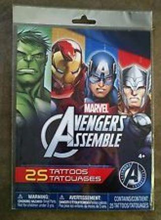 3 RANDOM Marvel Avengers Assemble Tattoos