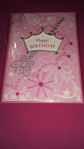 Happy Birthday Card - Crown & Wand