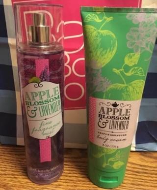 BBW APPLE BLOSSOM & LAVENDER Fine Fragrance Mist & Triple Moisture Body Cream