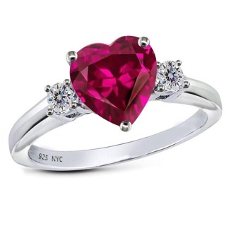 ~925 ruby heart ring~