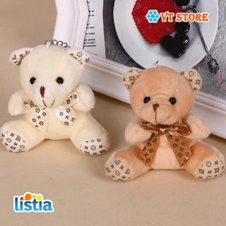1Pcs 10cm lovely mini Bear Teddy Bear Plush Toys four color optional Mobile phone bag key chain