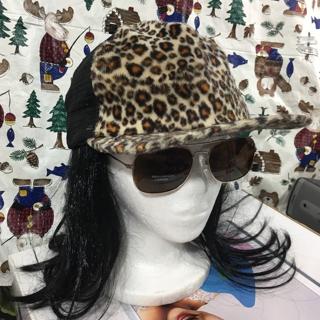 Fuzzy print Leopard cheetah trucker hat style cap FREE SHIPPING
