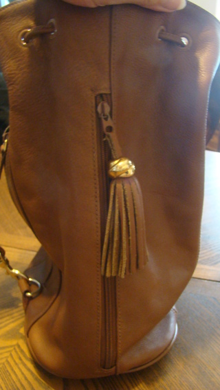leather conseal and carry  hobobag