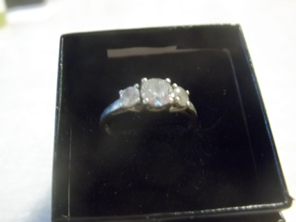 Sterling Silver Past Present & Future Ring