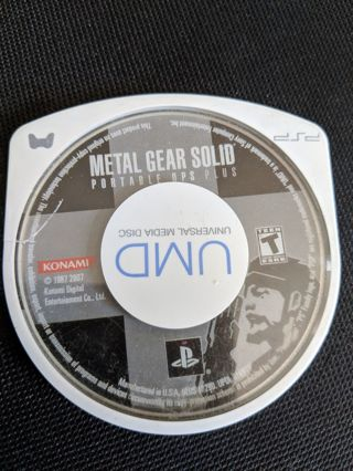 Metal Gear Solid Portable Ops Plus - PSP Playstation Portable