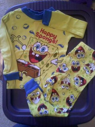 3T Sponge Bob PJs