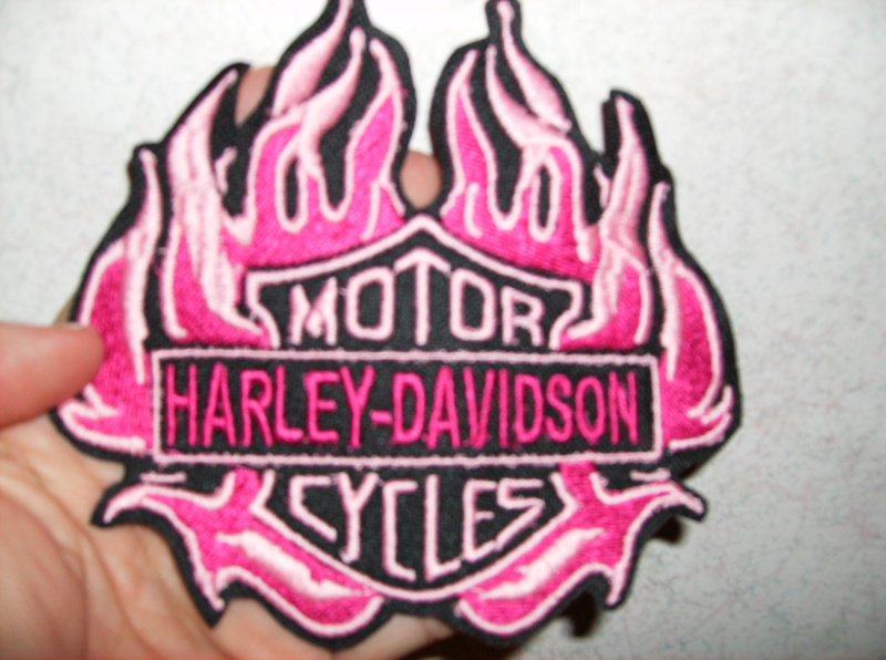 Free Harley Davidson Gurly Hot Pink Patch 1 Embroidered